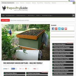 Free green roof chicken coop plans