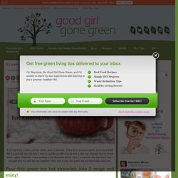 Green Tea Hot Chocolate - Good Girl Gone Green