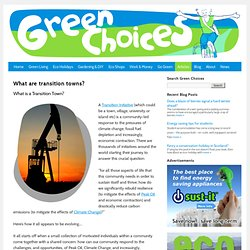 Green Choices - What are Transition Towns?