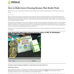 How to Make Green Cleaning Recipes That Really Work
