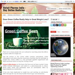 Does Green Coffee Really Help in Great Weight Loss?