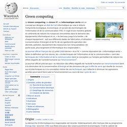 Wikipédia - Green computing
