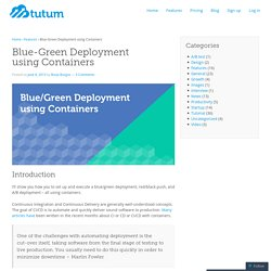 Blue-Green Deployment using Containers