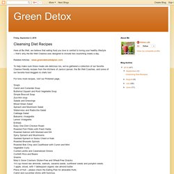 Green Detox: Cleansing Diet Recipes