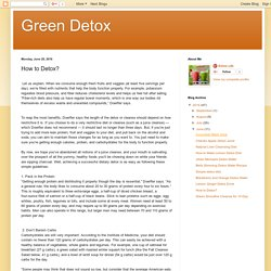 Green Detox: How to Detox?