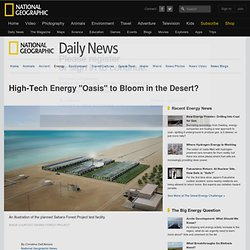 "Green Energy ""Oasis"" to Bloom in the Desert?"