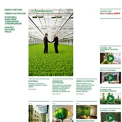 GREEN FORTUNE - Products and projects in the field of urban cult
