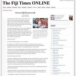 Green Fiji framework
