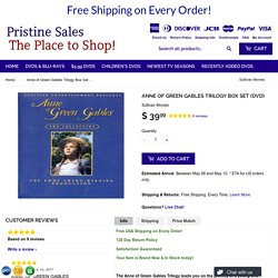 Anne of Green Gables Trilogy Box Set (DVD) – Pristine Sales