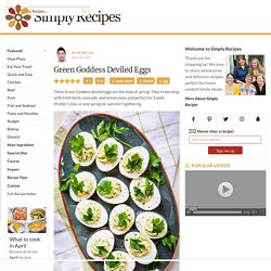 Green Goddess Deviled Eggs Recipe