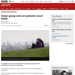 Green group wins air pollution court battle