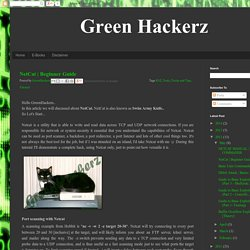 Green Hackerz: NetCat