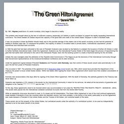 The Green Hilton Agreement - Geneva 1963