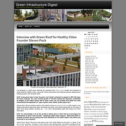 Green roof « Green Infrastructure Digest