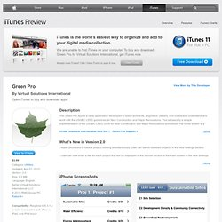 Green Pro for iPhone, iPod touch, and iPad on the iTunes App Store