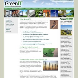 Green IT | Why GreenIT?
