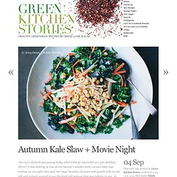 Autumn Kale Slaw + Movie Night