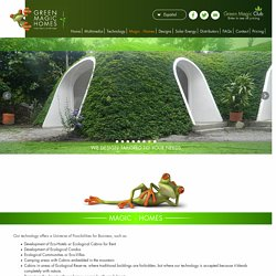 Green Magic Homes, green houses, ecologic earth covered homes