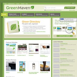 Green Maven- The Green Search Engine
