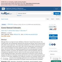 Green Natural Colorants - PubMed