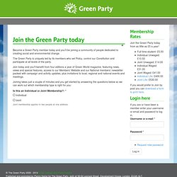 Green Party Members' Website