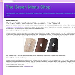 The Green Menu Shop : Why Do you Need to Keep Restaurant Table Accessories in your Restaurant