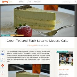 Green Tea and Black Sesame Mousse Cake