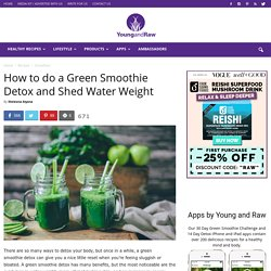 How to do a Green Smoothie Detox and Shed Water Weight