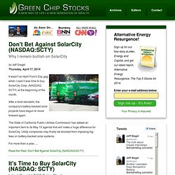 Alternative Energy Stocks & Green Investing News and Strategies