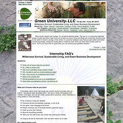 Green University® Internship FAQs