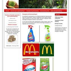 Green washing par l'exemple