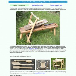Green Woodworking: Making A Shave - Horse