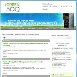 The Green500 List :: Environmentally Responsible Supercomputing