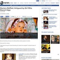 Girl Who Does Not Age, Brooke Greenberg Baffles Doctors