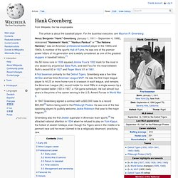 Hank Greenberg - Wiki