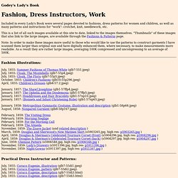 Greenberg: Godey's Lady's Book: Fashion, Dress Instructors, Work