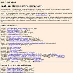 Greenberg: Godey's Lady's Book: Fashion, Dress Instructors, Work
