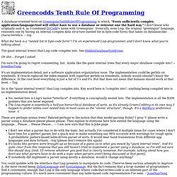 Greencodds Tenth Rule Of Programming