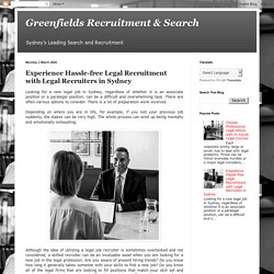 Experience Hassle-free Legal Recruitment with Legal Recruiters in Sydney
