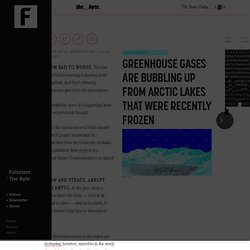 Greenhouse Gases Are Bubbling Up From Arctic Lakes That Were Recently Frozen