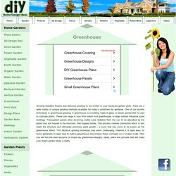 DIY Greenhouse Designs Ideas Plans & Pictures