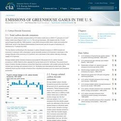 3/31/11: EIA - Greenhouse Gas Emissions - Carbon Dioxide Emissions
