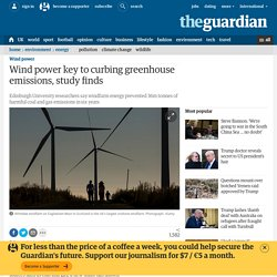 Wind power key to curbing greenhouse emissions, study finds