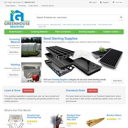 Greenhouse Megastore | Your exclusive source for hobby greenhouse kits, greenhouse and garden supplies, and much more!