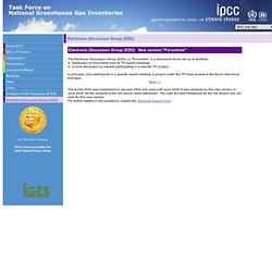 IPCC - Task Force on National Greenhouse Gas Inventories