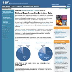 U.S. Greenhouse Gas Inventory - 2009 U.S. Greenhouse Gas Invento