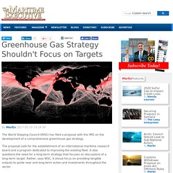 Greenhouse Gas Strategy Shouldn't Focus on Targets