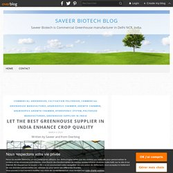 LET THE BEST GREENHOUSE SUPPLIER IN INDIA ENHANCE CROP QUALITY - Saveer Biotech Blog