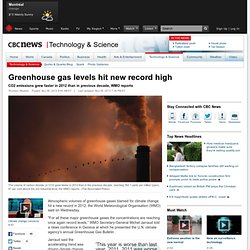 Greenhouse gas levels hit new record high - Technology & Science
