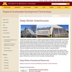 Deep Winter Greenhouses : Statewide : Regional Sustainable Development Partnerships